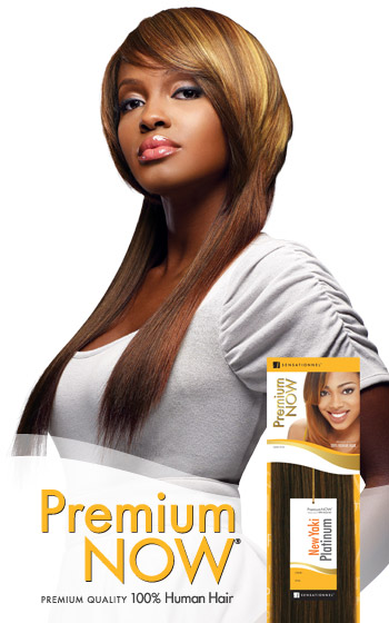 SENSATIONNEL Premium Now Yaki 100% Human Hair Weave